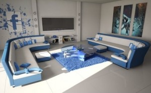 Blue Living Room Design 2017