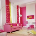 Red-pink-living-room-decor