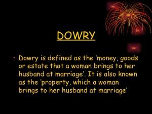 Dowry Defination