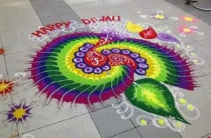 Rangoli-decoration-for-diwali-festival