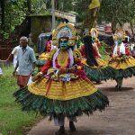 Kummattikali mask dance photos