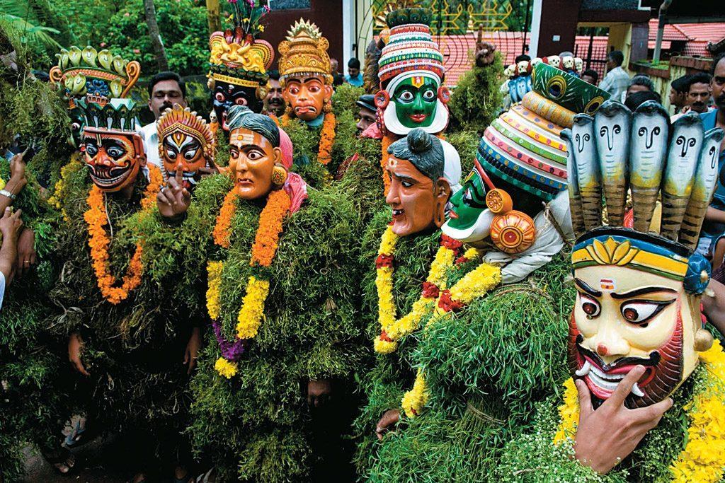 onam festival mask dance photos