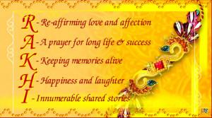 Rakhi Meaning Card.