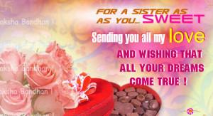 Raksha Bandhan Cards for Sisters.