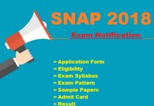 SNAP 2018 Exam Notification
