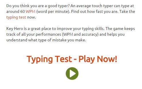 Increase typing speed keyhero