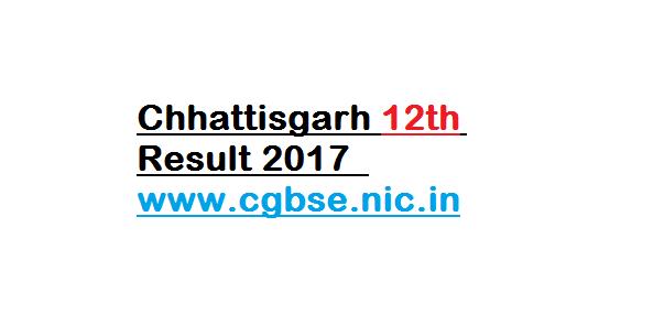 Chhattisgarh 12th Result 2017