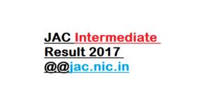 JAC Intermediate Result 2017