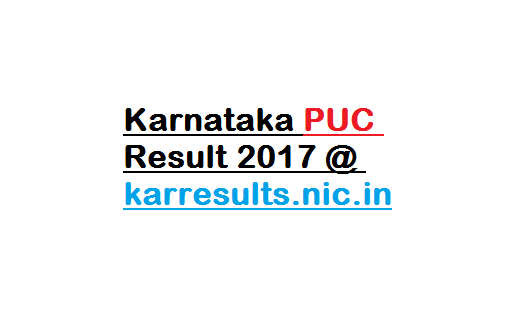 Karnataka PUC Result 2017