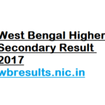 West Bengal Higher Secondary Result 2017