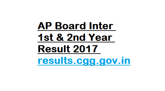 AP Board Inter 1st & 2nd Year Result 2017