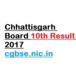 Chhattisgarh Board 10th Result 2017