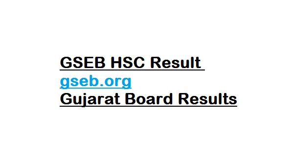 GSEB HSC Result gseb.org