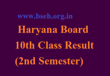 HBSE 10th Result 2018