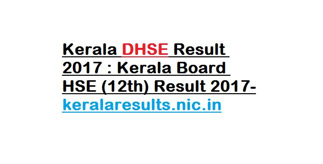 Kerala DHSE Result 2017