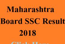 Maharashtra Board SSC Result 2018