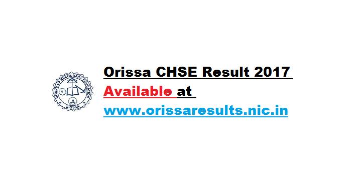 Orissa CHSE Result 2017
