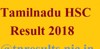 Tamilnadu HSC Result 2018 - tnresults.nic.in