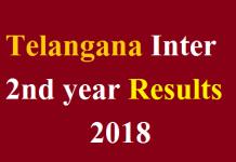 Telangana Inter 2nd year Results 2018