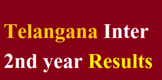 Telangana Inter 2nd year Results 2018