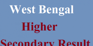 West Bengal Higher Secondary Result 2018-wbresults.nic.in