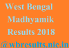 West Bengal Madhyamik Result 2018 wbresults.nic.in