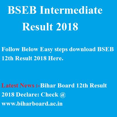 biharboard.ac.in- Bihar Board 12th Result 2018