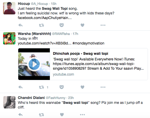 dhinchak pooja songs reviews funny meme