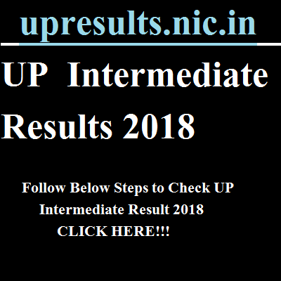 upresults.nic.in UP Intermediate Result 2018