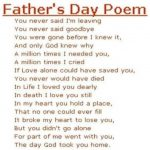 Happy Fathers Day Short Poems from childeren
