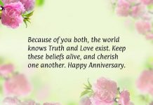 Wedding Anniversary Status for Parents