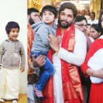 allu arjun with his son and wife photos