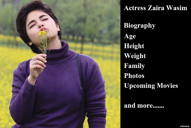 zaira wasim biography
