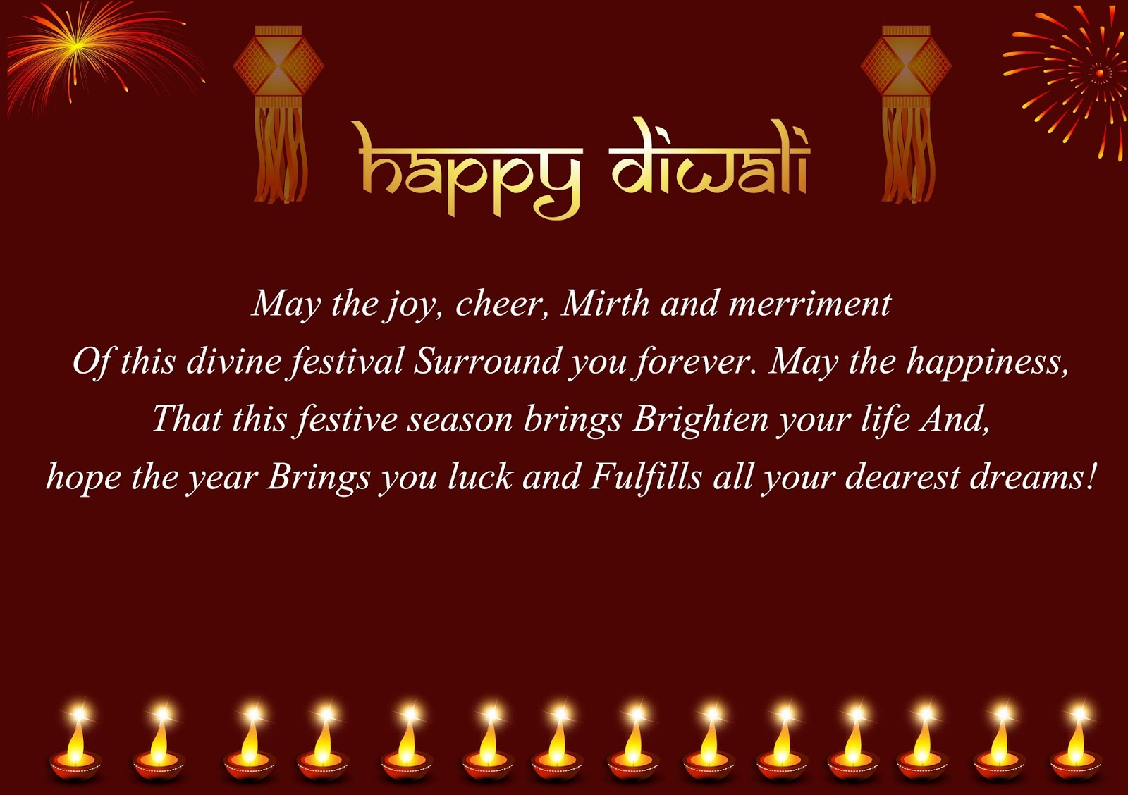 Beautiful Diwali Wishes Quotes 2017