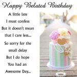 Belated Happy Birthday Wishes Images