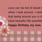 Cute Birthday Wishes for Lover