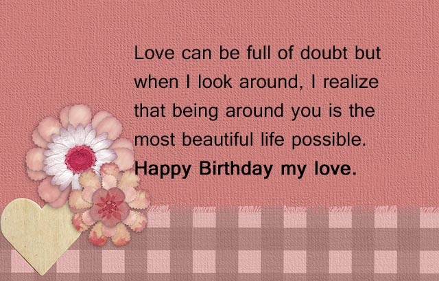 Advance Happy Birthday Wishes for Lover
