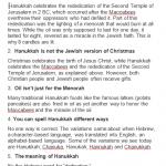 Real Hanukkah Facts