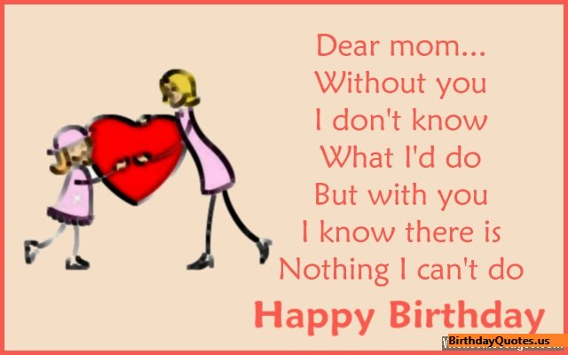 Happy Birthday Mother Wishes Quotes