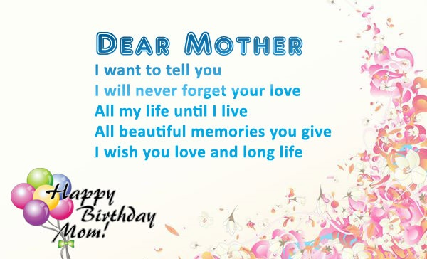 Quotes and Wishes for Mother's Birthday