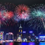new year evening fireworks images pictures