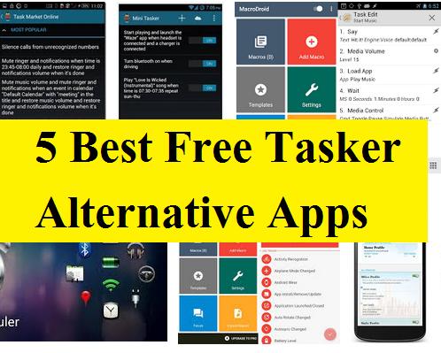 Best Free Tasker Alternative Apps