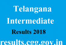 Telangana Intermediate Results 2018