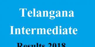 Telangana Intermediate Results 2018