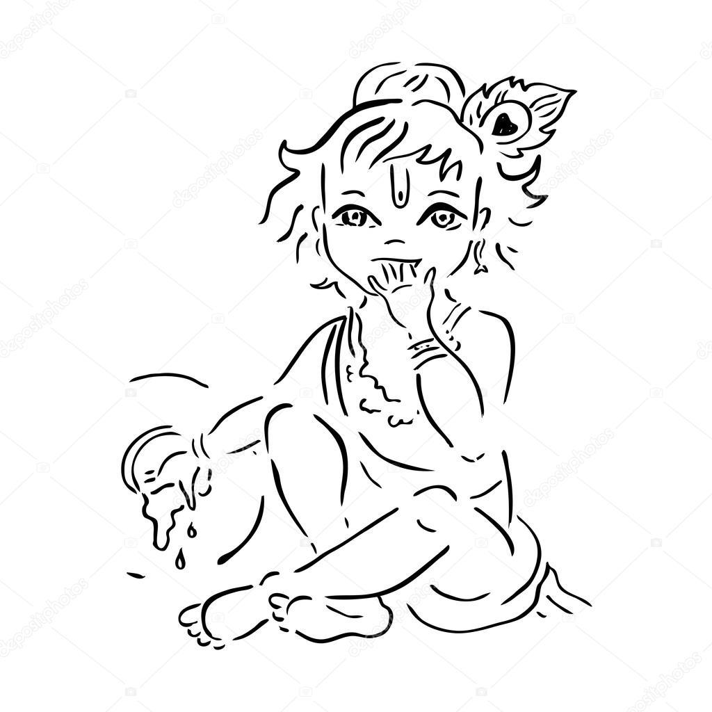krishna janmashtami images for drawing