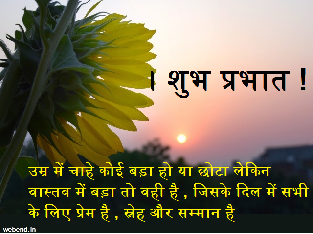 respectful good morning wishes in hindi