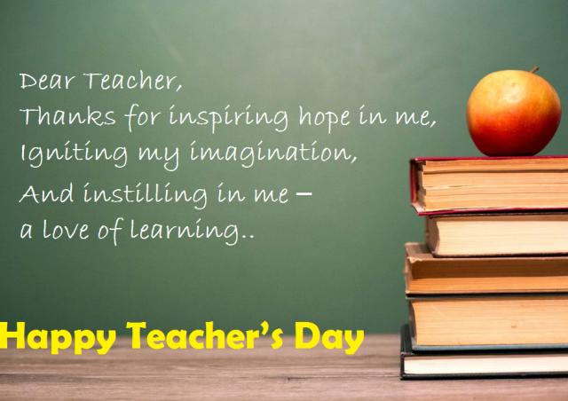 teacher's day status in english