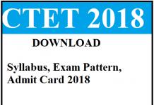ctet 2018 exam information