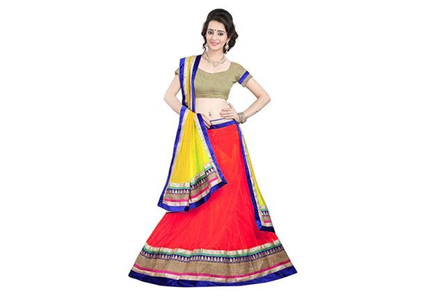 The a-line lehenga for navratri festival
