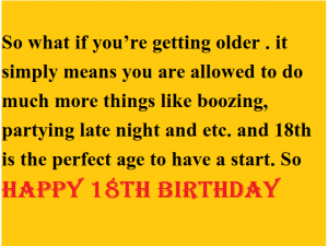 18th birthday wishes for son or daughter